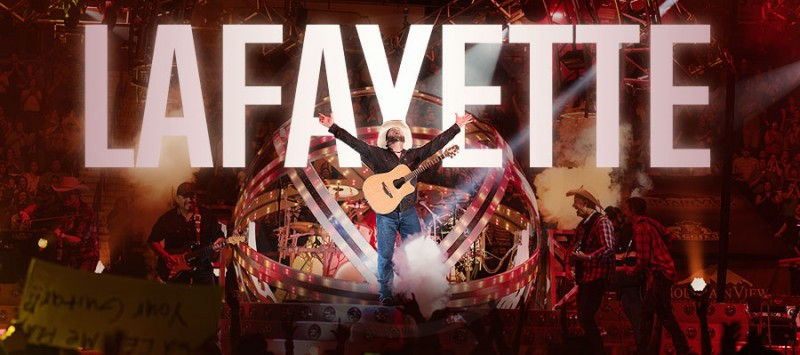 GARTH BROOKS DOUBLES HIS LAFAYETTE RECORD